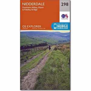 OS Explorer Map 298 Nidderdale