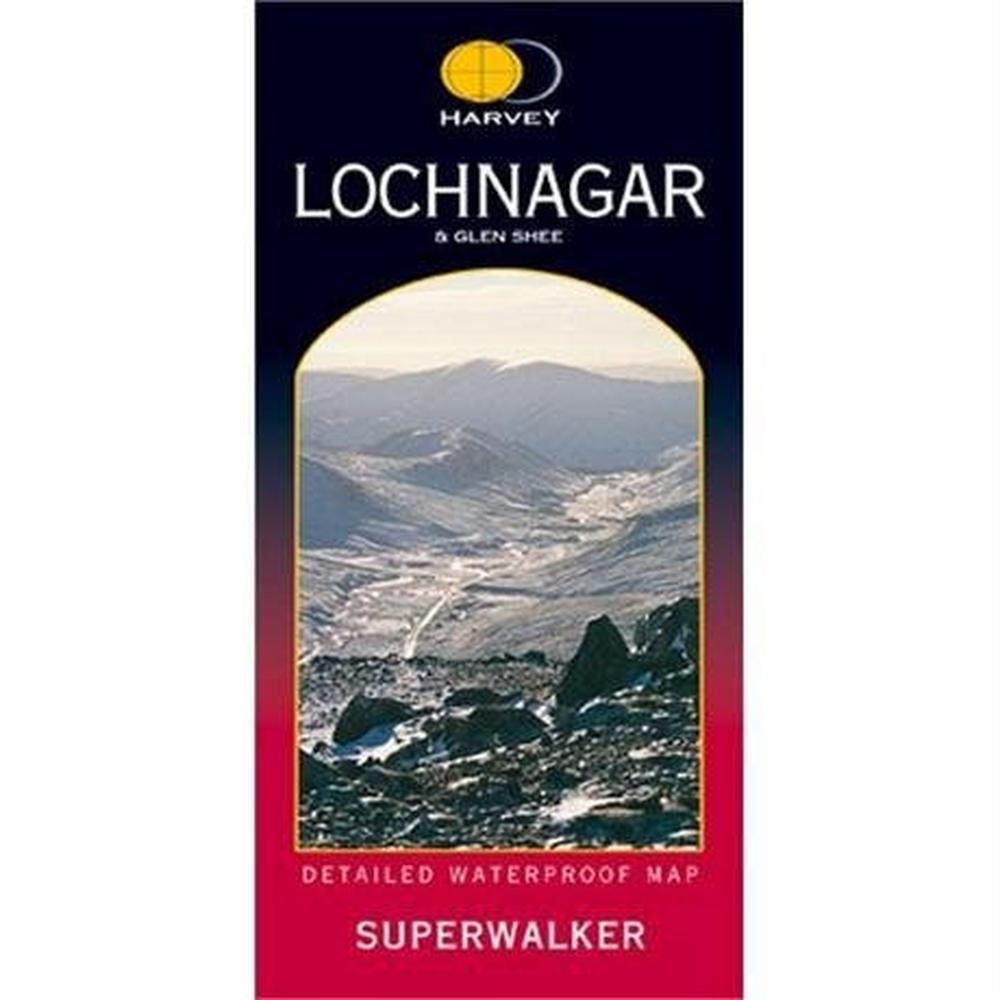 Harveys Harvey Map - Superwalker: Lochnagar & Glen Shee