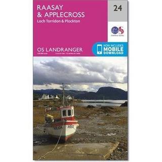 OS Landranger ACTIVE Map 24 Raasay & Applecross, Loch Torridon & Plockton