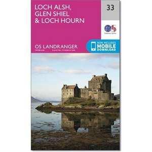 OS Landranger ACTIVE Map 33 Loch Alsh, Glen Shiel & Loch Hourn