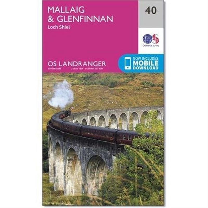 OS Landranger ACTIVE Map 40 Mallaig & Glenfinnan, Loch Shiel