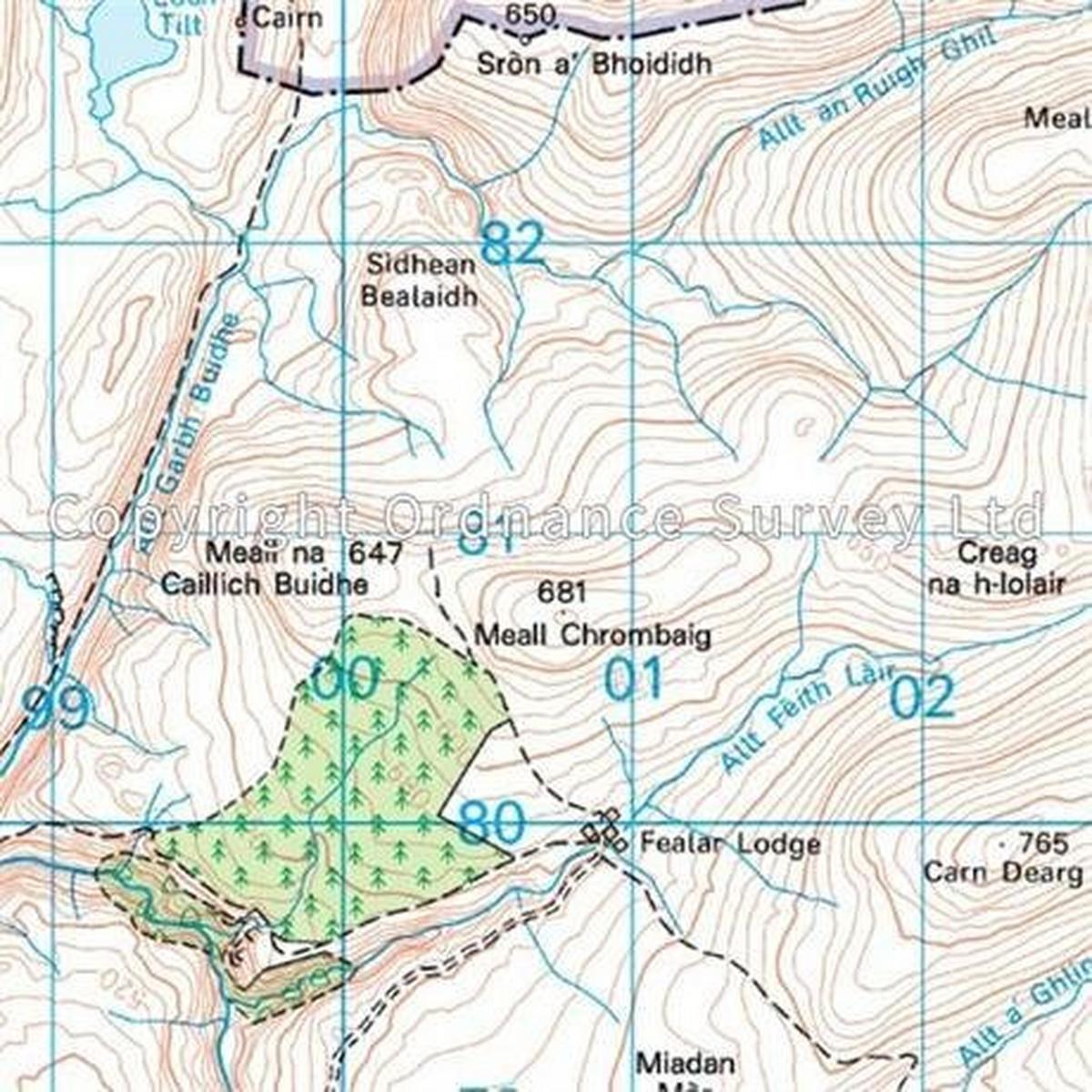 Ordnance Survey OS Landranger ACTIVE Map 43 Braemar & Blair Atholl