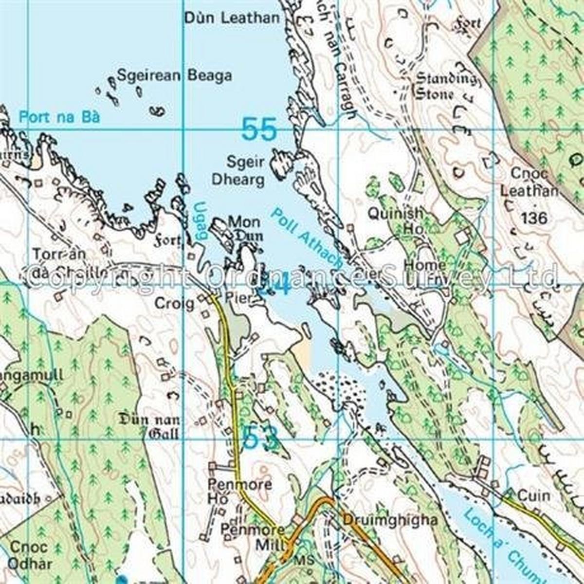 Ordnance Survey OS Landranger ACTIVE Map 47 Tobermory & North Mull