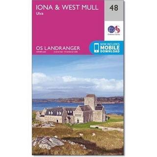 OS Landranger ACTIVE Map 48 Iona & West Mull, Ulva