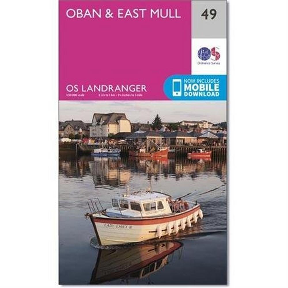 Ordnance Survey OS Landranger ACTIVE Map 49 Oban & East Mull
