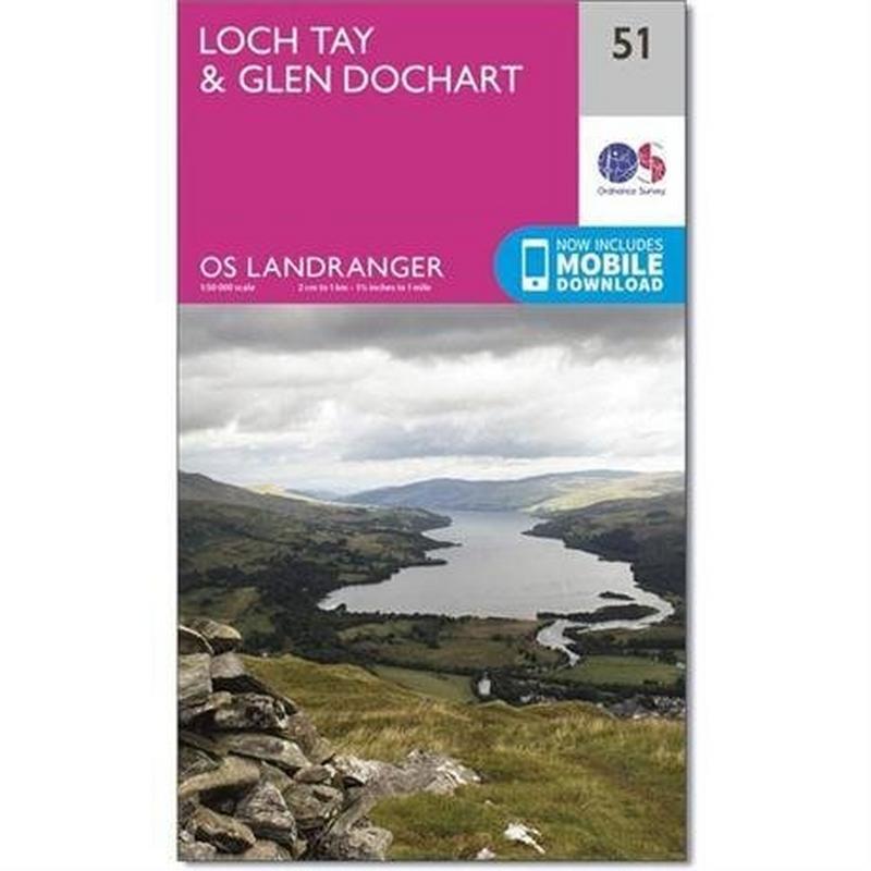 OS Landranger Map 51: Loch Tay & Glen Dochart