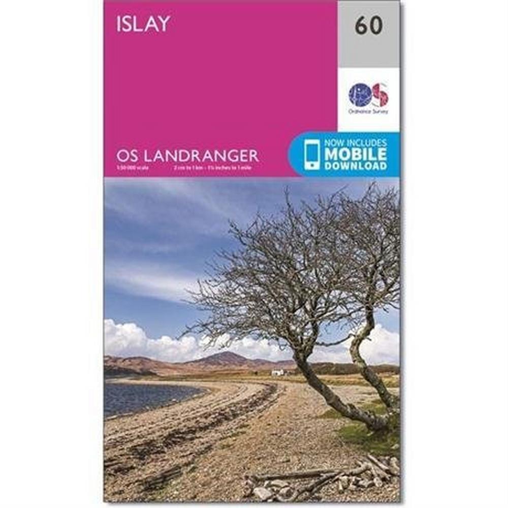 Ordnance Survey OS Landranger ACTIVE Map 60 Islay