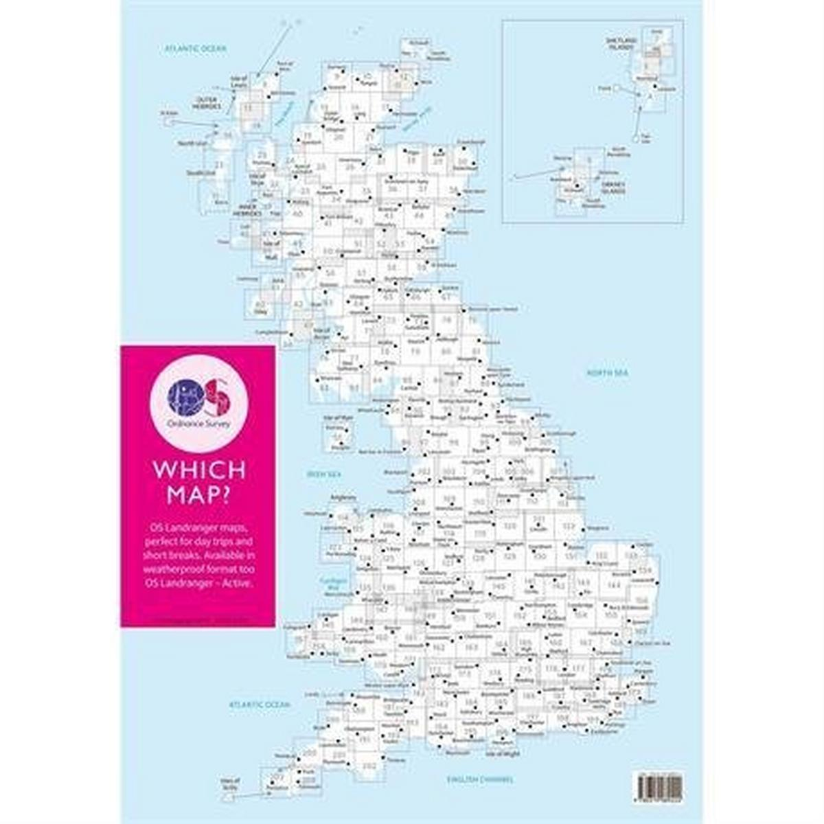 Ordnance Survey OS Landranger ACTIVE Map 89 West Cumbria, Cockermouth & Wast Water