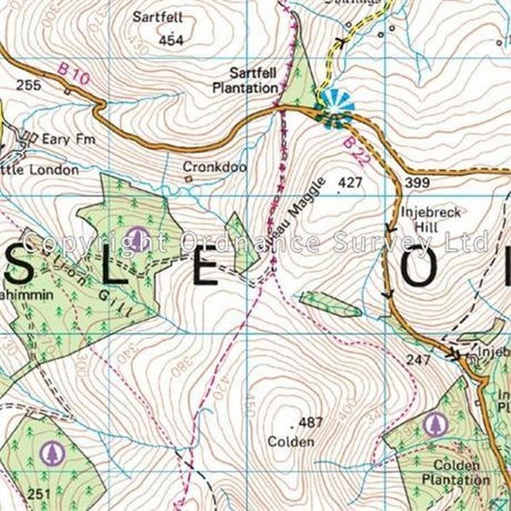 Ordnance Survey OS Landranger ACTIVE Map 95 Isle of Man