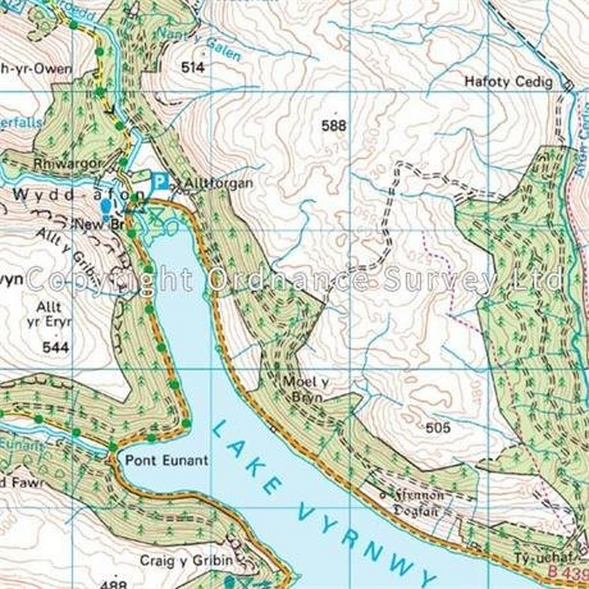 Ordnance Survey OS Landranger ACTIVE Map 125 Bala & Lake Vyrnwy, Berwyn