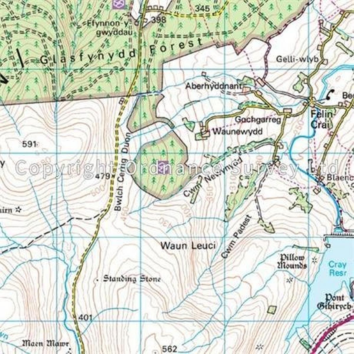Ordnance Survey OS Landranger ACTIVE Map 160 Brecon Beacons