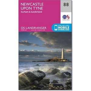 OS Landranger Map 88  Newcastle upon Tyne, Durham & Sunderland