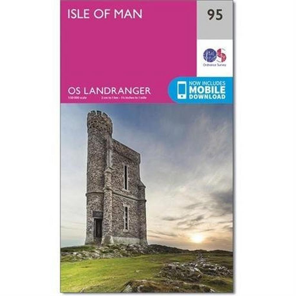 Ordnance Survey OS Landranger Map 95 Isle of Man