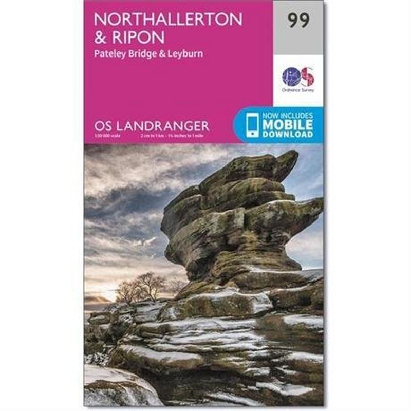 OS Landranger Map 99 Northallerton & Ripon, Pateley Bridge & Leyburn