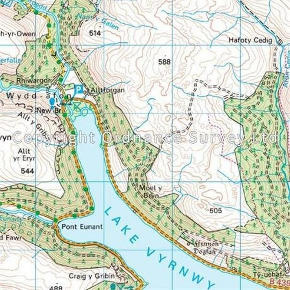 Ordnance Survey OS Landranger Map 125 Bala & Lake Vyrnwy, Berwyn