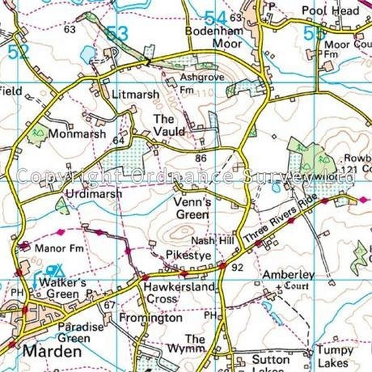 Ordnance Survey OS Landranger Map 149 Hereford & Leominster, Bromyard & Ledbury