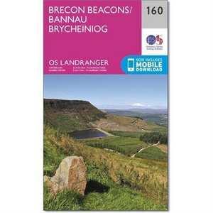 OS Landranger Map 160 Brecon Beacons