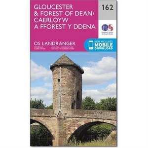 OS Landranger Map 162 Gloucester & Forest of Dean