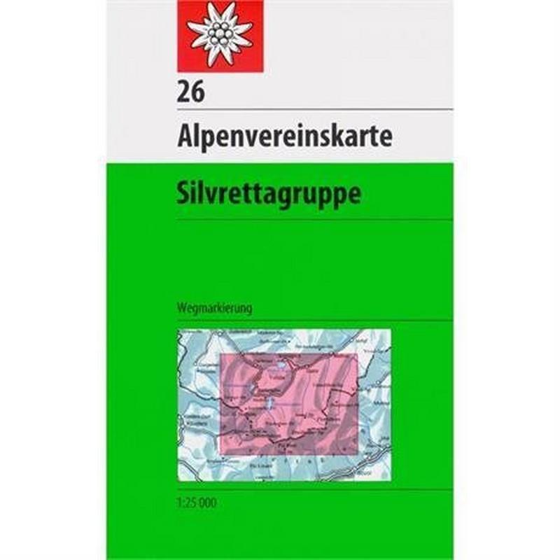 Austria Map Silvrettagruppe 26