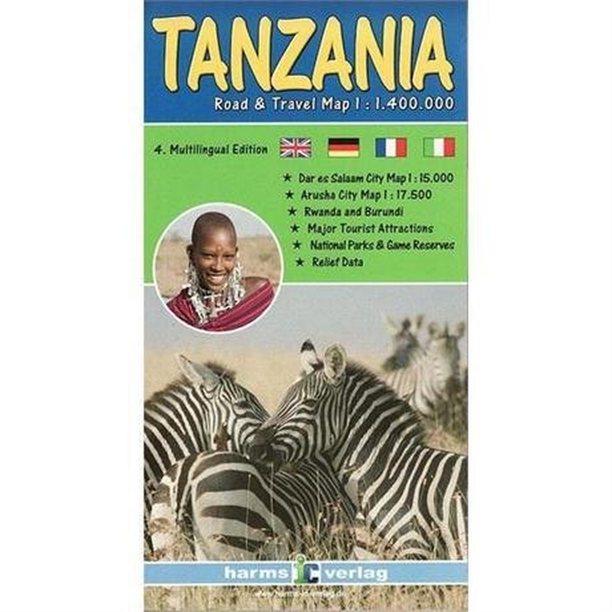 Miscellaneous Map: Tanzania 1:1,400,000