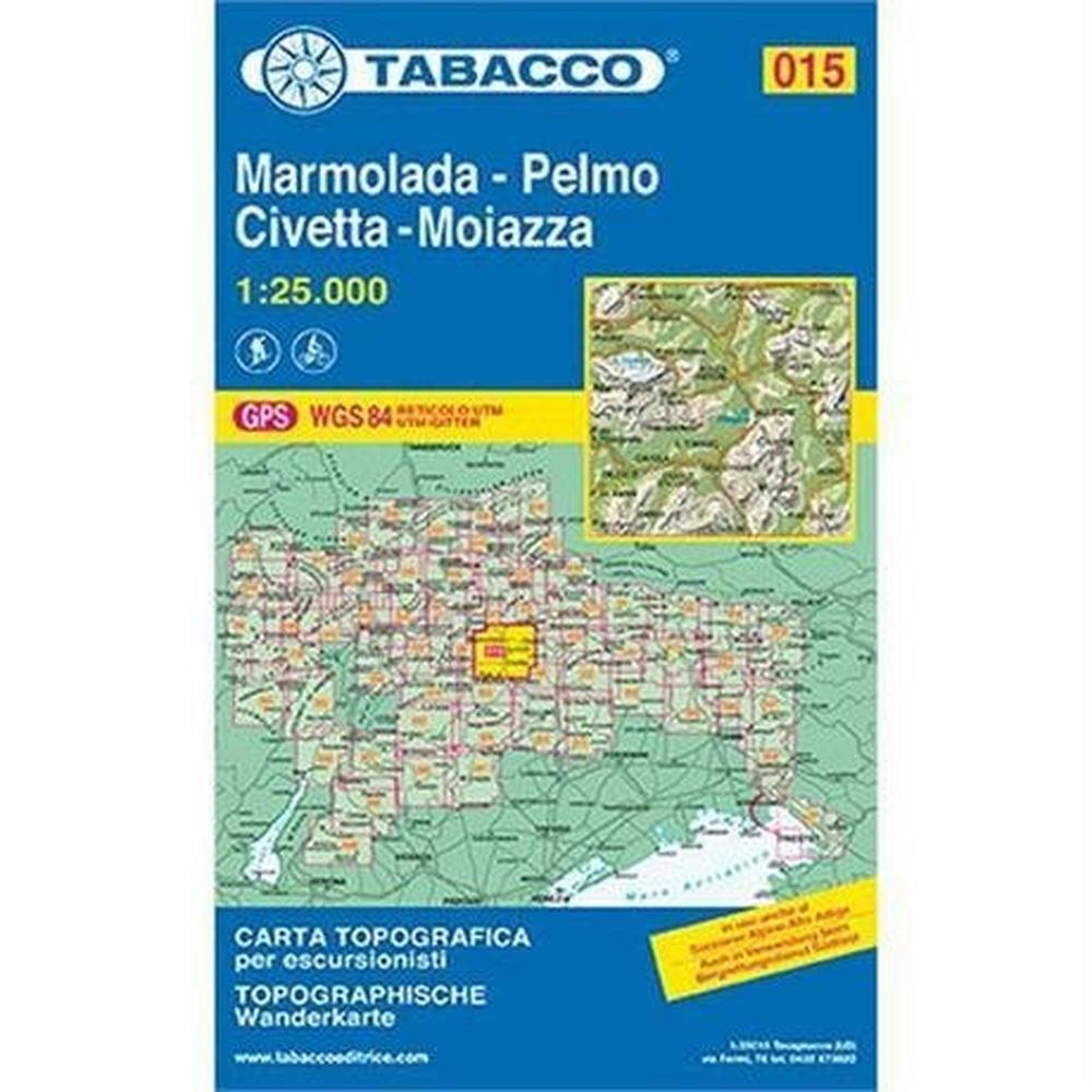 Miscellaneous Marmolada, Pelmo, Civetta, Moiazza - Italy Map