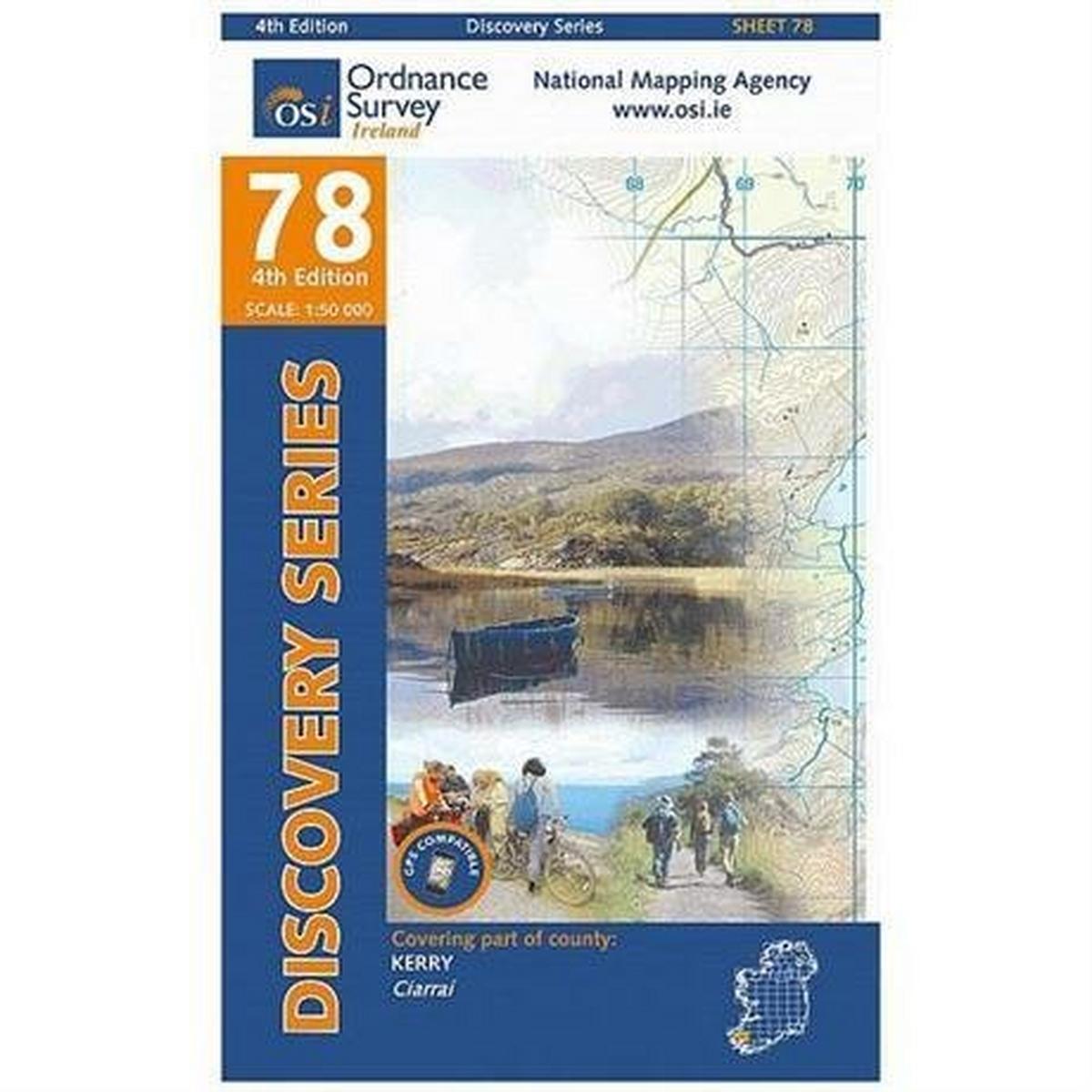 Miscellaneous Ireland Map Ordnance Survey OS 78: Kerry