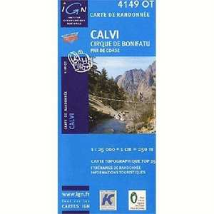 France Map 4149 OT Corsica: Calvi - Cirque de Bonifatu GR20 1:25,000