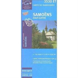 France IGN Map Samoens 3530 ET