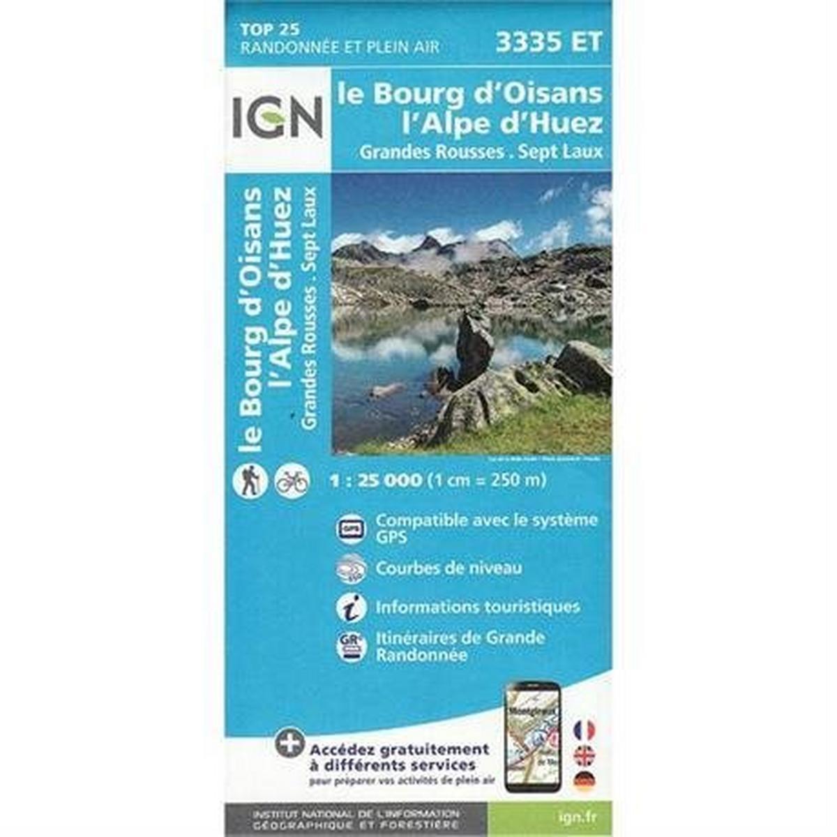 Ign Maps France IGN Map: le Bourg d'Oisans / l'Alpe d'Huez 3335 ET
