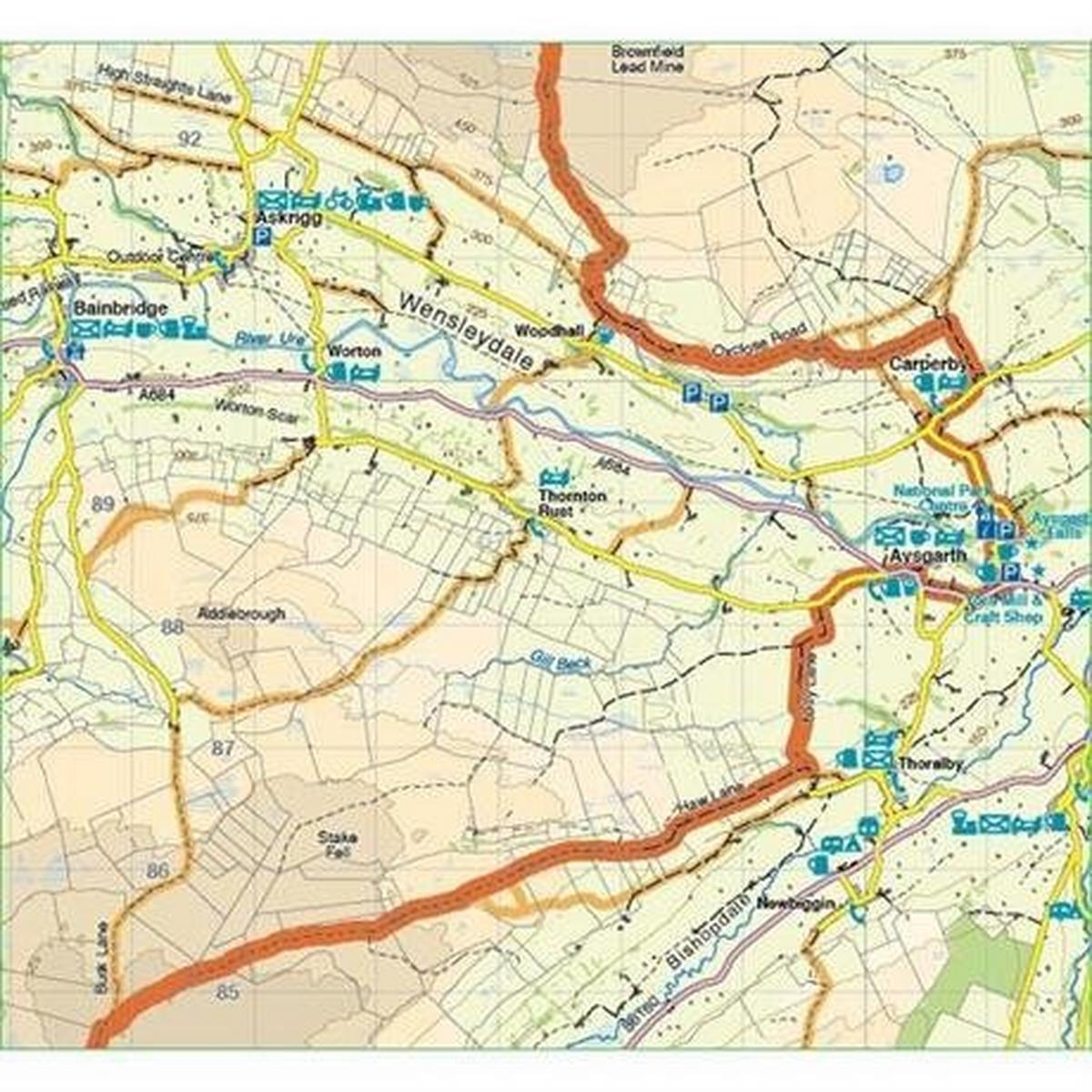 Harveys Harvey Map - XT60: Coast to Coast - West - for Mountain Bikers and Cyclists