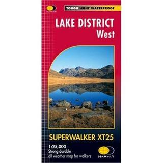 Harvey Map - Superwalker XT25: Lake District - West