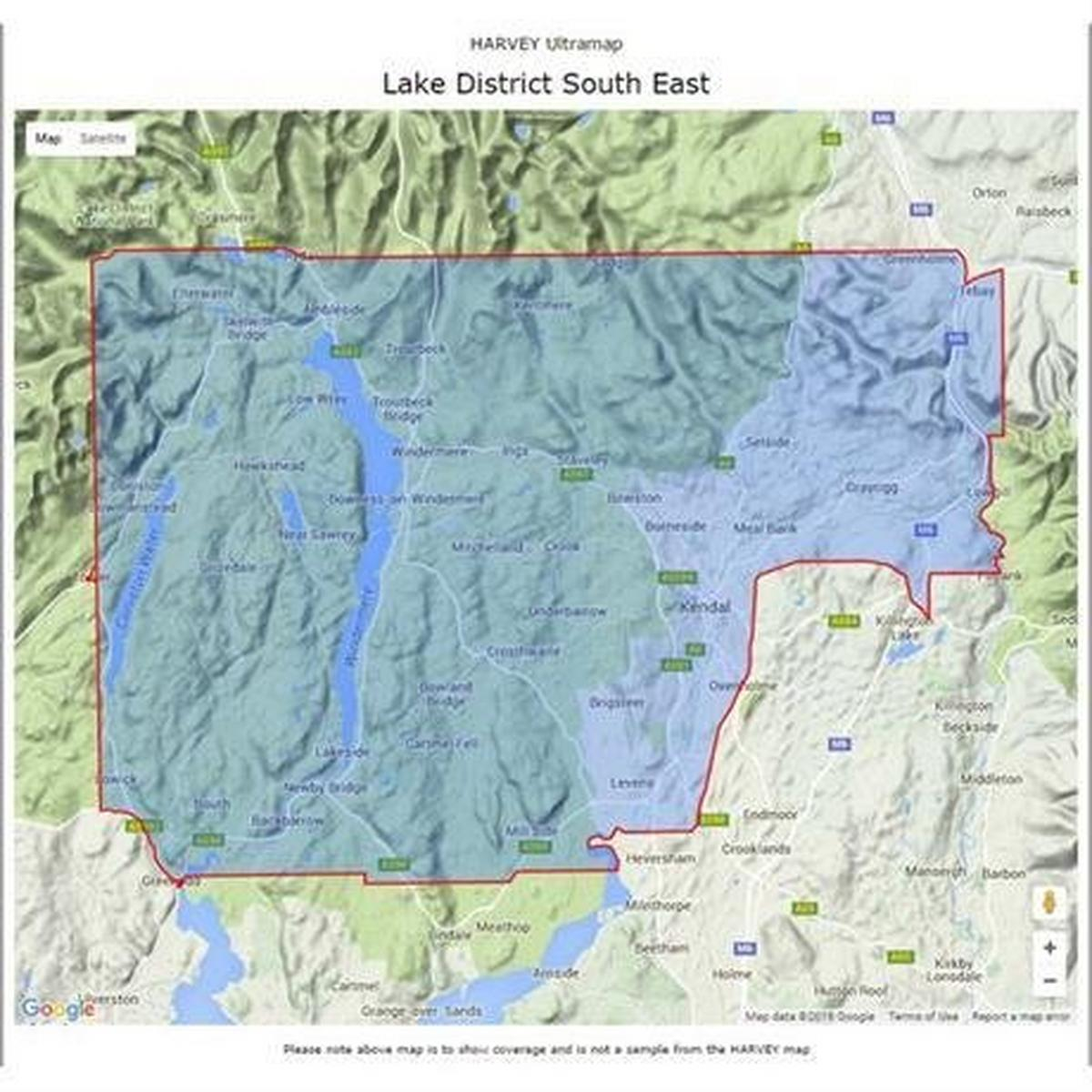 Harveys Harvey Ultramap XT40: Lake District - South East