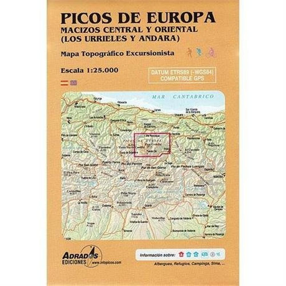 Miscellaneous Spain Map: Picos de Europa - Central y Oriental