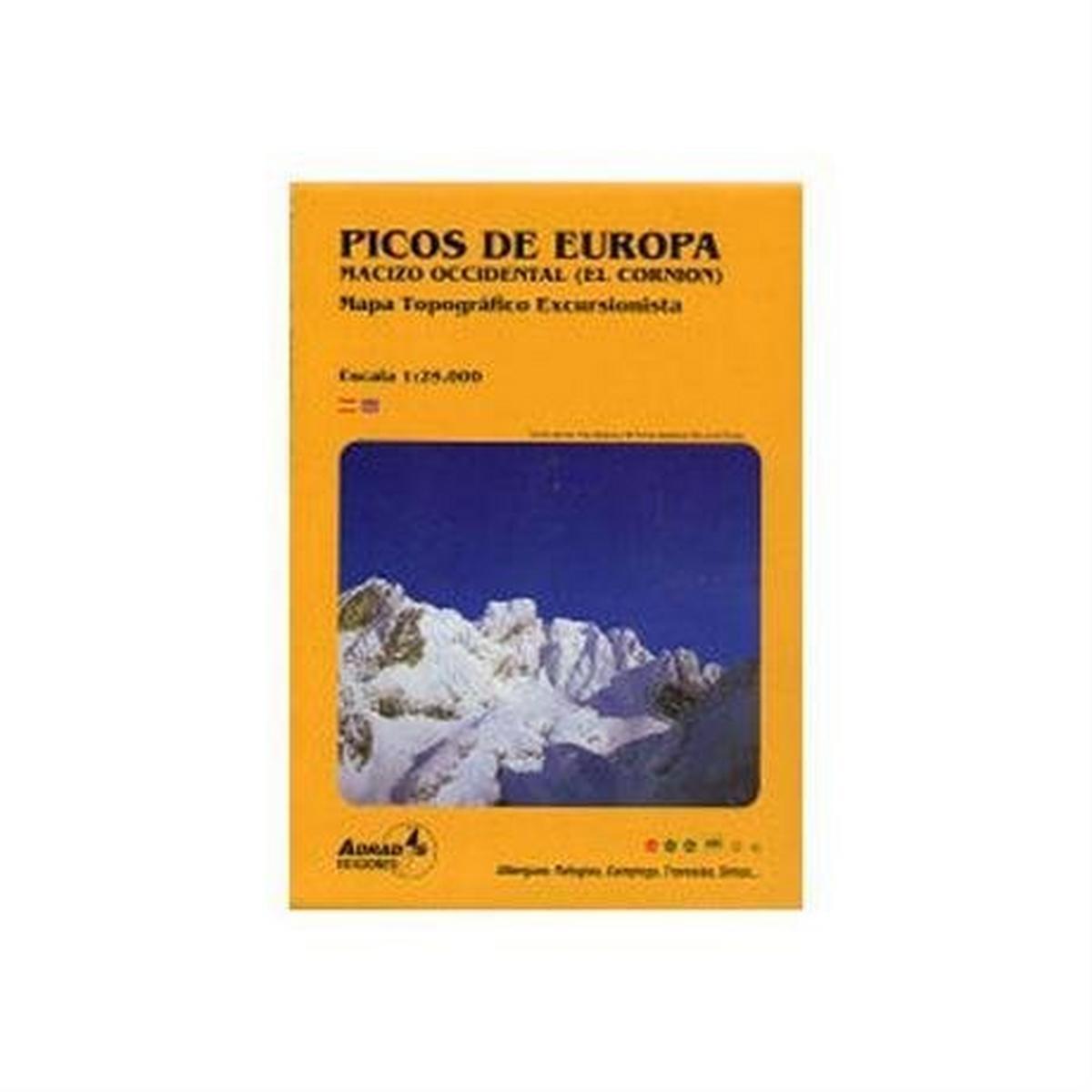 Miscellaneous Spain Map: Picos de Europa - Macizo Occidental (El Cornion)