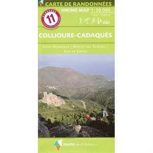 France IGN Map Pyrenees 11 - Collioure Cadaques