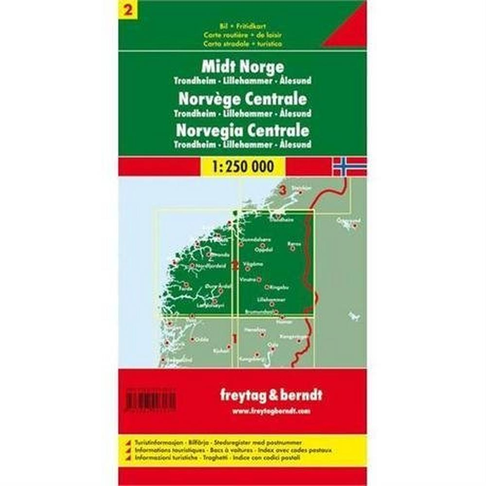 Miscellaneous Norway Map: Central incl. Trondheim 1:250 000