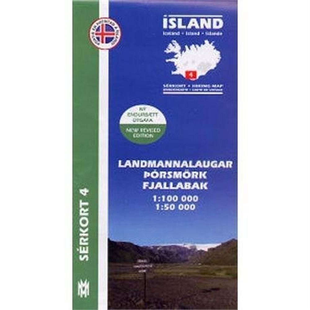 Miscellaneous Iceland Map Landmannlaugar Hiking 4
