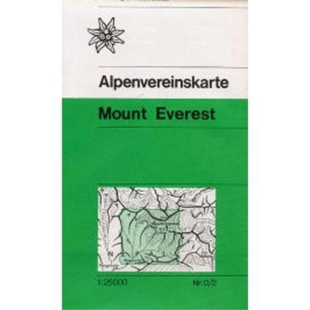 Miscellaneous Nepal Map: Mount Everest - Alpenvereinskarte - German Alpine Club (sheet 0/2)