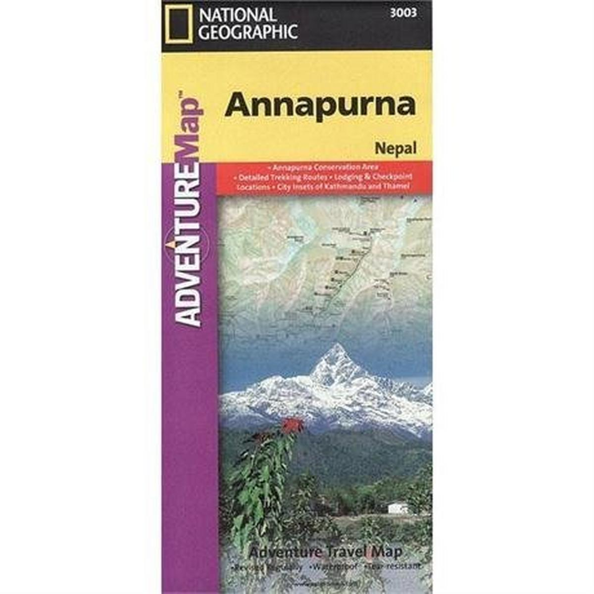 Miscellaneous Nepal Map: National Geographic Adventure Map: Annapurna 1:135,000