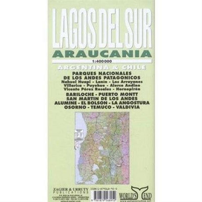 Chile Map: Lagos del Sur - Araucania (Argentina/Chile) 1:400,000