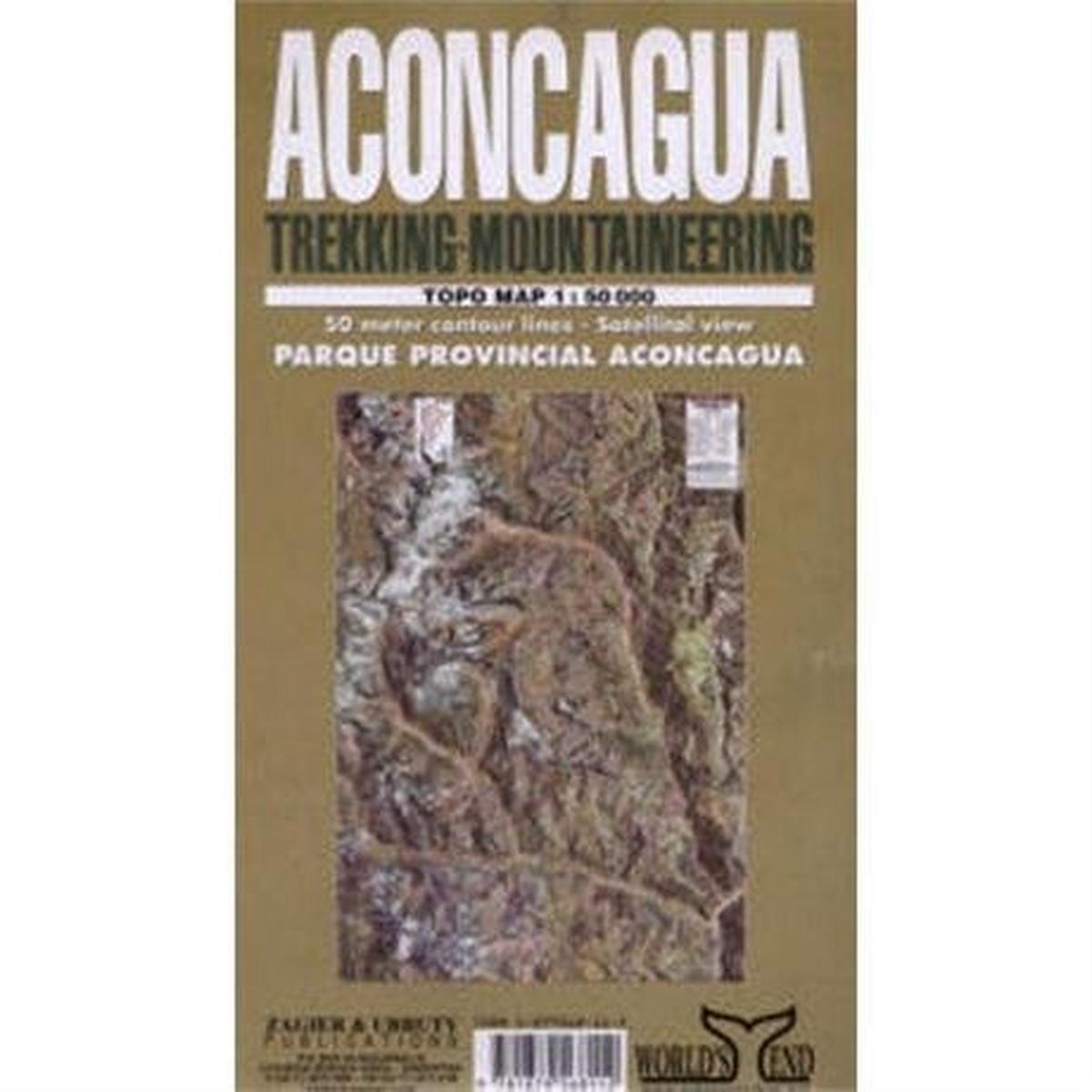 Miscellaneous Argentina Map: Aconcagua Trekking - Mountaineering 1:50,000