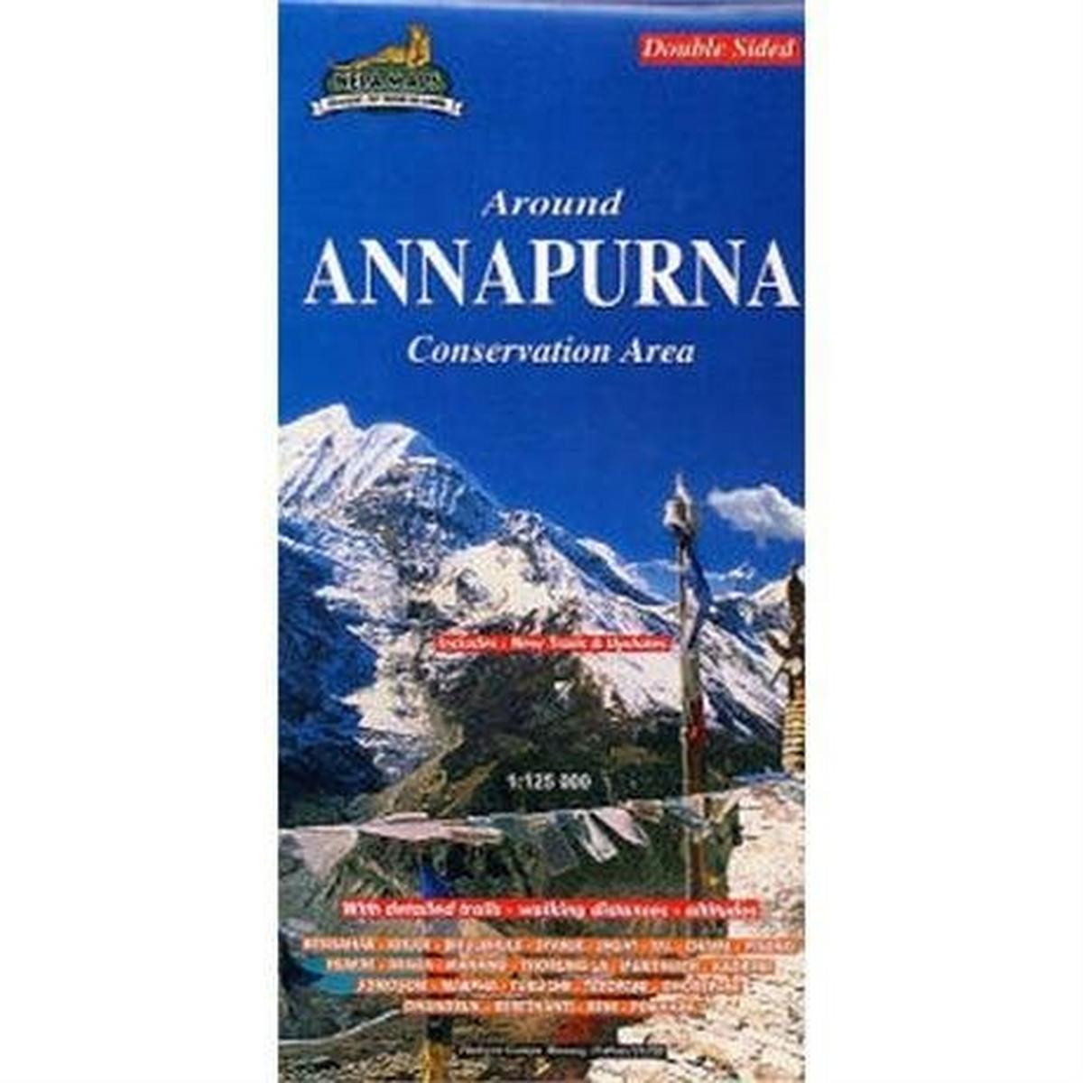 Miscellaneous Nepal Map: Around Pokhara Valley 1:50,000 / Around Annapurna 1:125,000