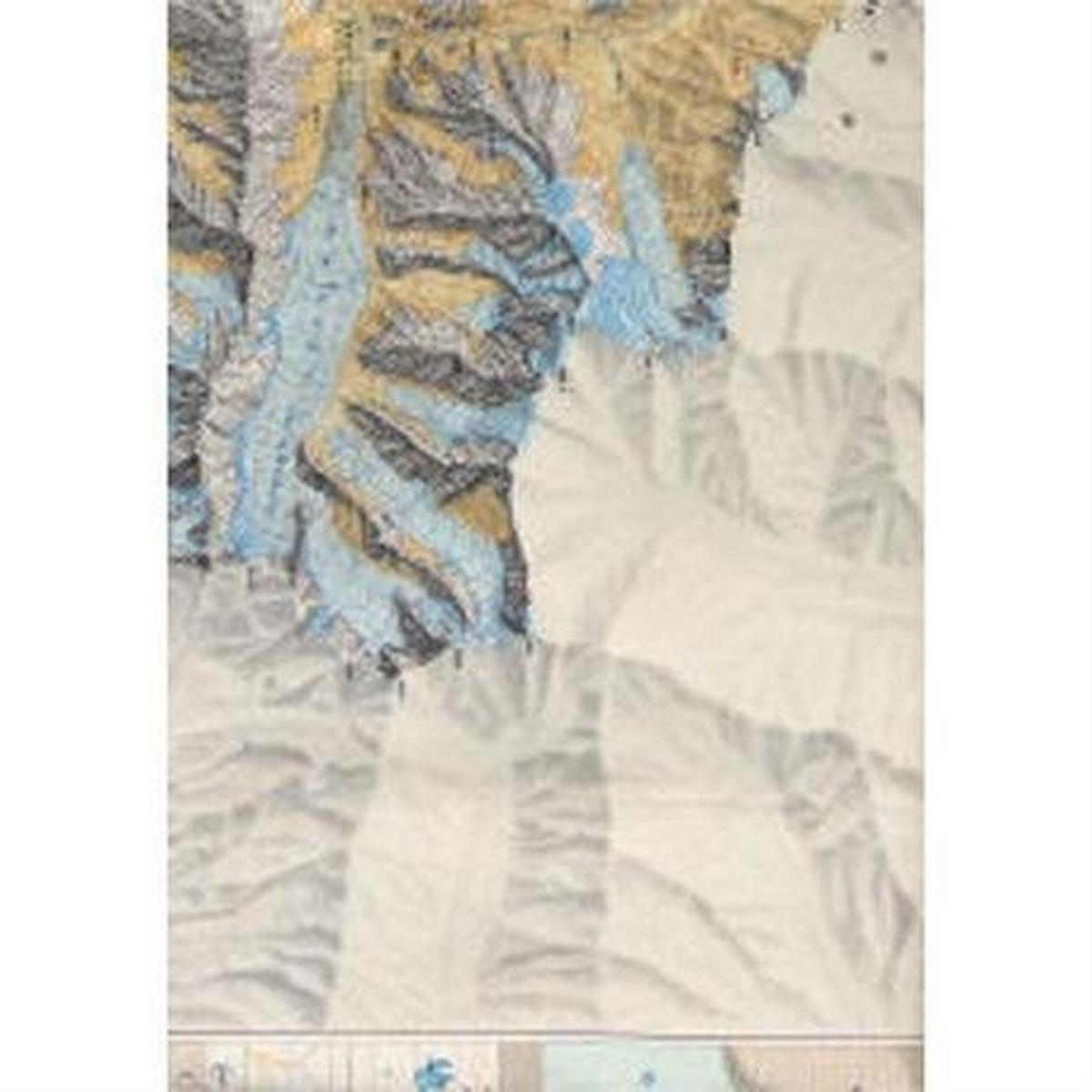 Miscellaneous Pakistan Map: Batura Glacier, Karakoram, Pakistan 1:60,000