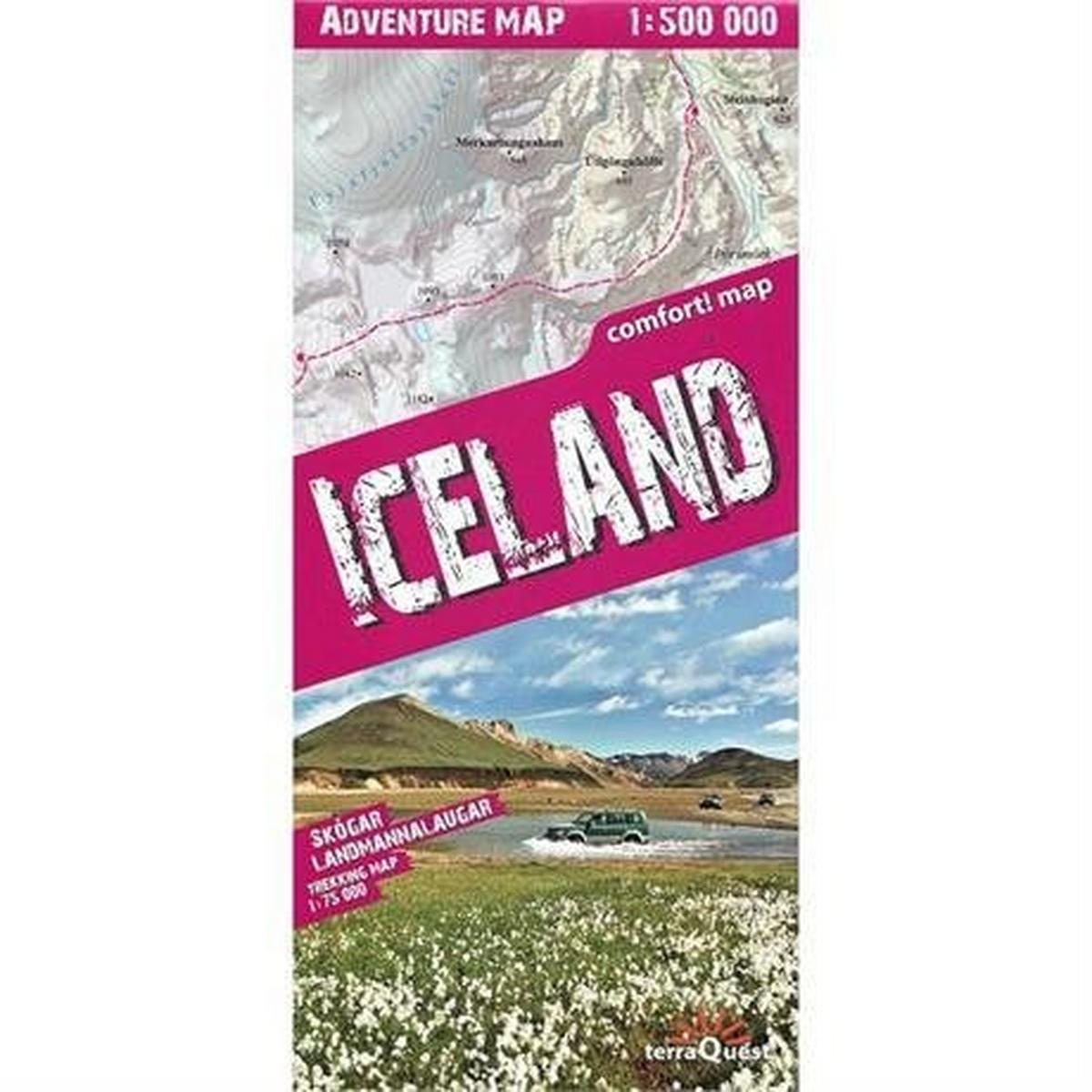 Miscellaneous Terraquest Adventure Map: Iceland 1:500,000