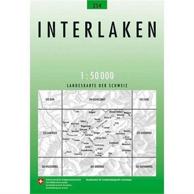Switzerland Map 254 Interlaken