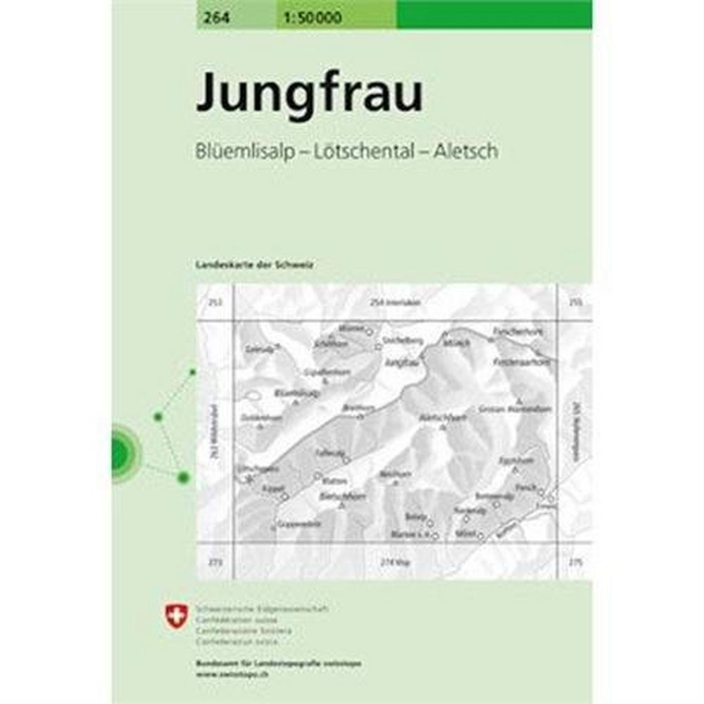 Miscellaneous Switzerland Map 264 Jungfrau