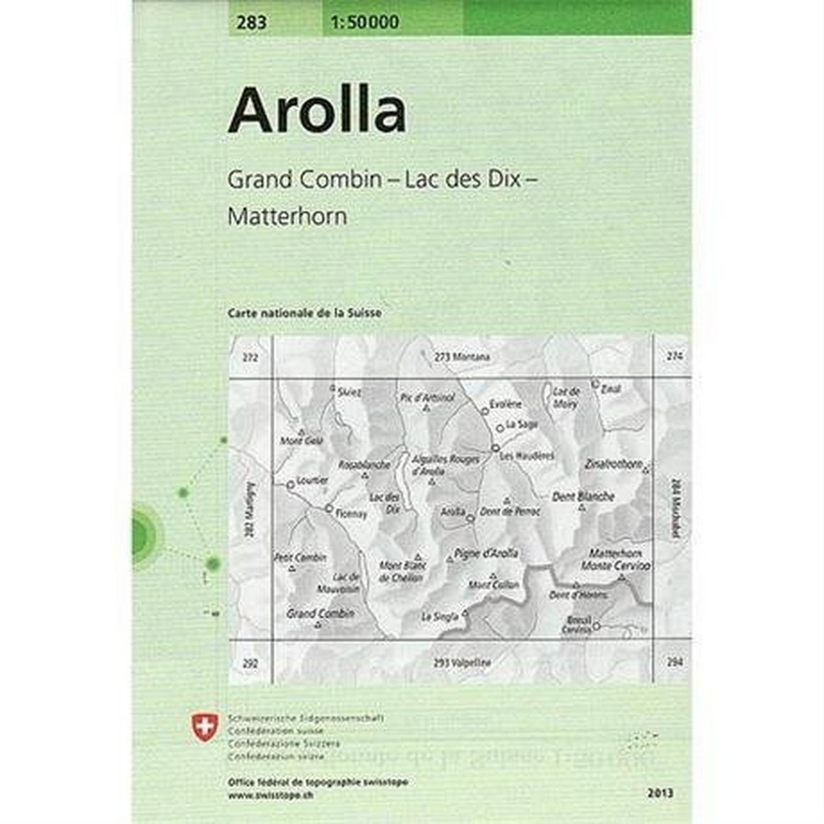Miscellaneous Switzerland Map 283 Arolla