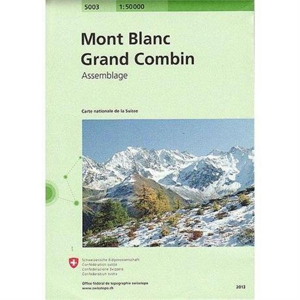 Miscellaneous Switzerland Map 5003 Mont Blanc - Grand Combin