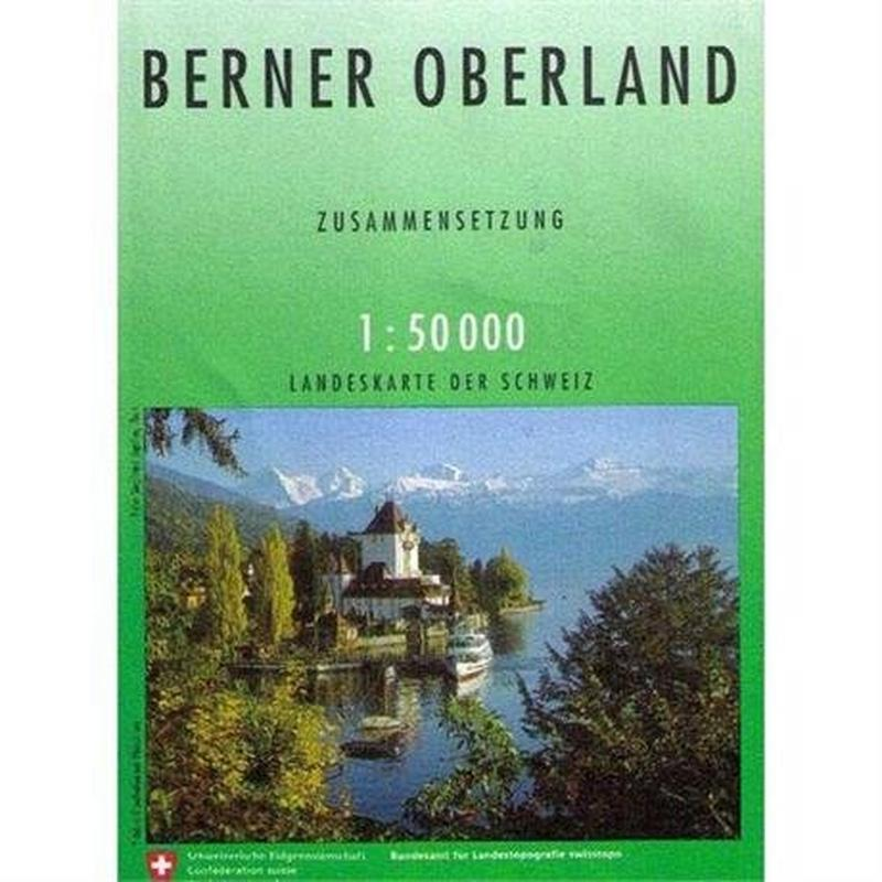 Switzerland Map 5004 Berner Oberland