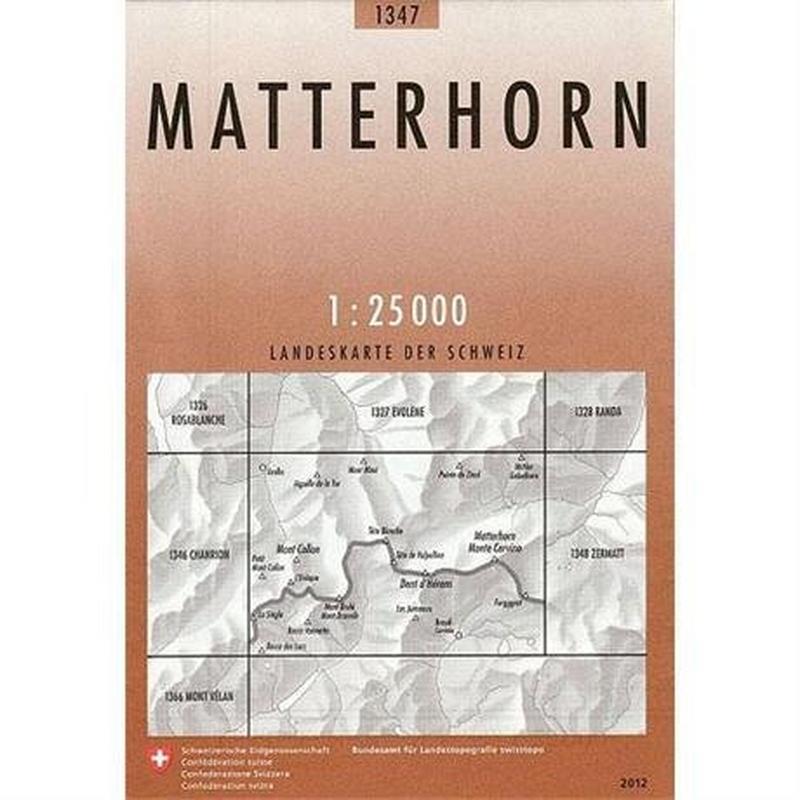Switzerland Map 1347 Matterhorn
